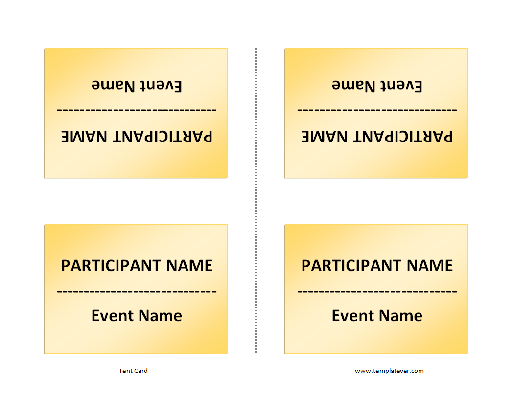 free printable simple tent card template word